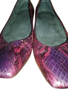 Stuart Weitzman Red/Purple/Black Flats