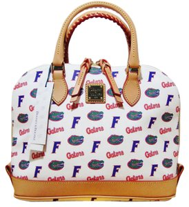 Dooney & Bourke Gators Shoulder Satchel in White