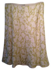Ann Taylor Skirt cream and soft green