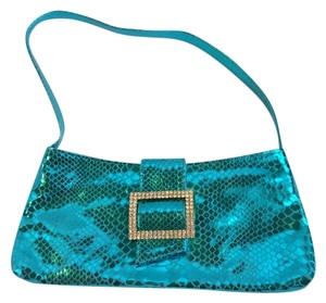 Ash & Diamonds Teal Clutch