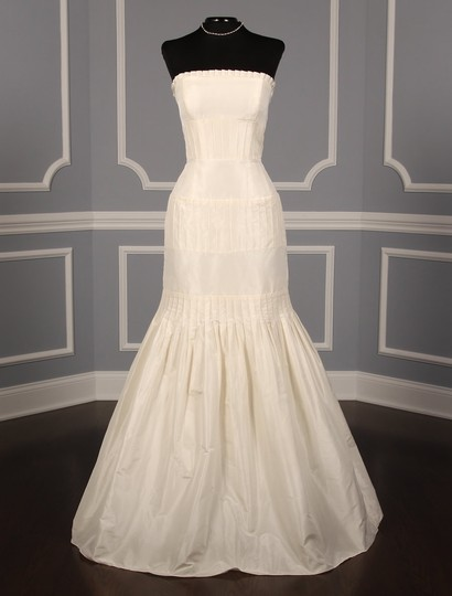 Anne Barge Pearl (Ivory) Silk Taffeta Lf132 X Formal Wedding Dress Size 6 (S) Image 1
