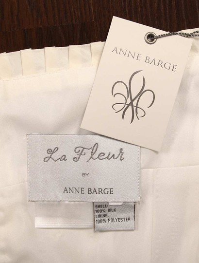 Anne Barge Pearl (Ivory) Silk Taffeta Lf132 X Formal Wedding Dress Size 6 (S) Image 11