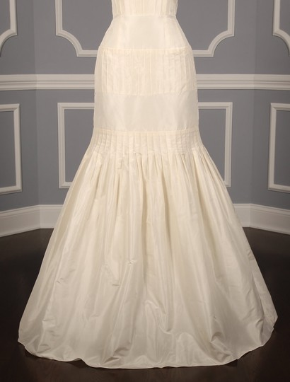 Anne Barge Pearl (Ivory) Silk Taffeta Lf132 X Formal Wedding Dress Size 6 (S) Image 3