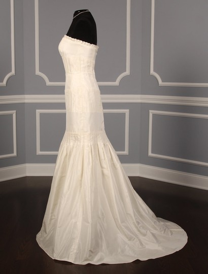 Anne Barge Pearl (Ivory) Silk Taffeta Lf132 X Formal Wedding Dress Size 6 (S) Image 4
