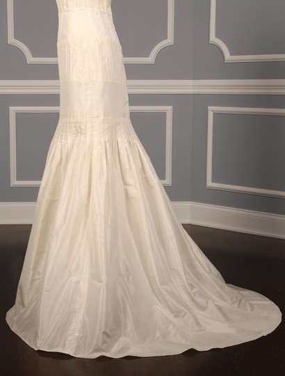 Anne Barge Pearl (Ivory) Silk Taffeta Lf132 X Formal Wedding Dress Size 6 (S) Image 6