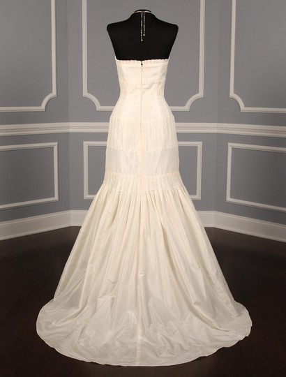 Anne Barge Pearl (Ivory) Silk Taffeta Lf132 X Formal Wedding Dress Size 6 (S) Image 7