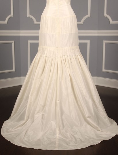 Anne Barge Pearl (Ivory) Silk Taffeta Lf132 X Formal Wedding Dress Size 6 (S) Image 9