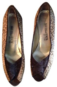 Bottega Veneta Heels Leopard Vintage Brown cheetah Pumps