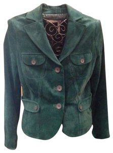 Classiques Entier Warm Suede Petite Stylish forest green Leather Jacket