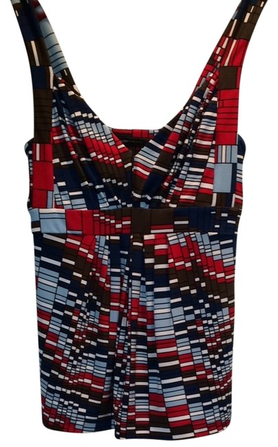 Preload https://item3.tradesy.com/images/bcbgmaxazria-red-blue-brown-and-black-80734-tank-topcami-size-4-s-1767632-0-0.jpg?width=400&height=650