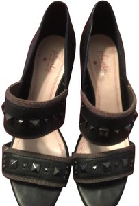 Plenty by Tracy Reese Black and army green Sandals