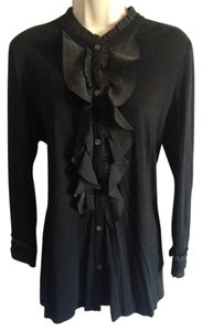 Theory Ruffle Top Black