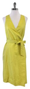 Oscar de la Renta short dress Yellow Raw Silk Wrap on Tradesy