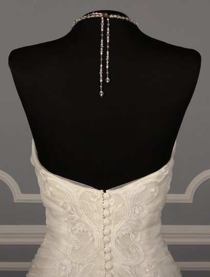 Ines Di Santo Light Ivory Silk Organza with Embroidery Santina Formal Wedding Dress Size 8 (M) Image 9