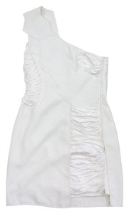 BCBGMAXAZRIA short dress Off White Draped One Shoulder on Tradesy