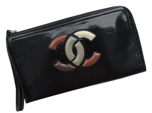 Chanel Cc Multicolor Wallet Black Clutch