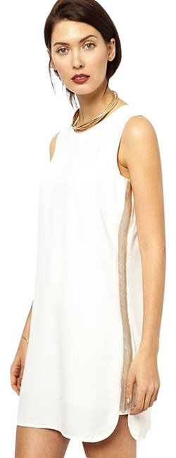 BCBGMAXAZRIA Mini Beaded Sleeveless Dress