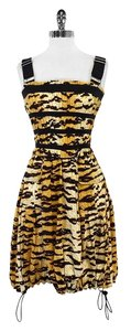 Dolce&Gabbana short dress Striped Leopard Print on Tradesy