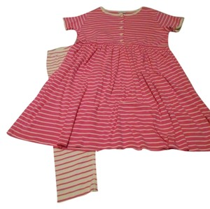 Hanna Andersson short dress Pink and Butter Yellow Day Play Leggings Two Pieces Striped Anderson Cotton Set Lot Girls 12 Xxs Xs Small Ladies Small Petite 160 Euro 160 on Tradesy