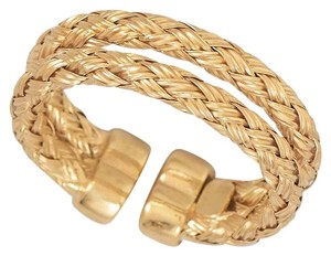 NEW 14 Karat Gold Plated Double Woven Band Ring