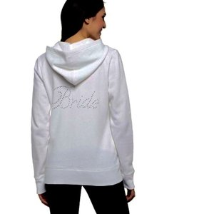 Gilligan & O'Malley White Bride Hoodie Sweatshirt Size Small