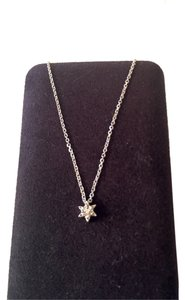 Vintage 14K white gold and diamond Star of David necklace