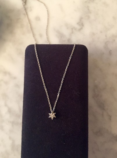 Other Vintage 14K white gold and diamond Star of David necklace