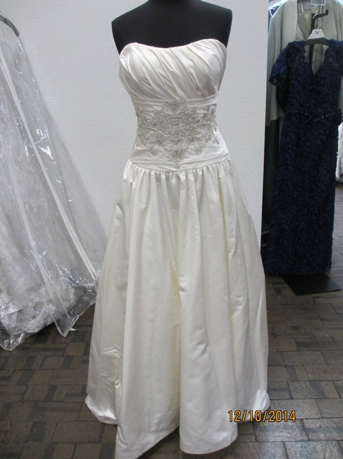 Item - Silk White Couture- Style B060 Formal Wedding Dress Size 14 (L)
