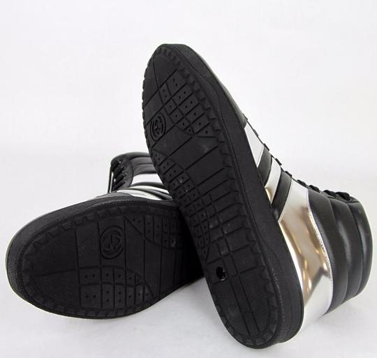 Gucci Black/Silver 1086 Men's Contrast Padded Leather High-top Sneaker 7.5g/Us 8 368494 Shoes Image 1
