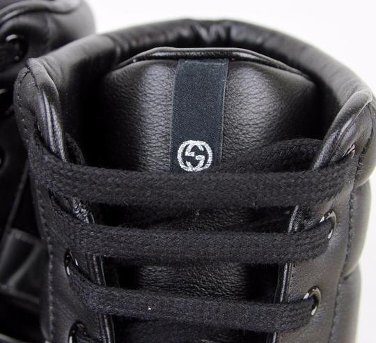 Gucci Black/Silver 1086 Men's Contrast Padded Leather High-top Sneaker 7.5g/Us 8 368494 Shoes Image 2
