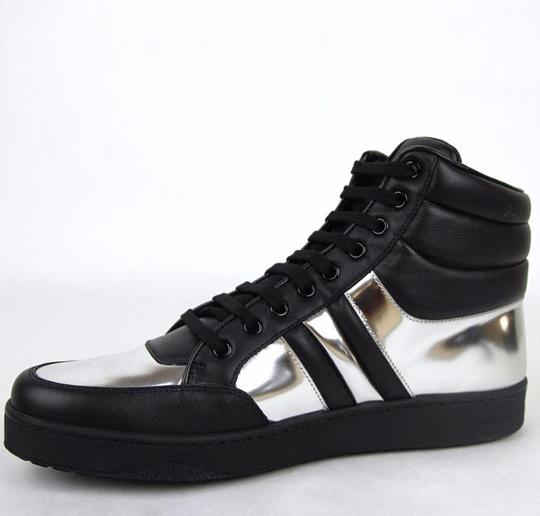 Gucci Black/Silver 1086 Men's Contrast Padded Leather High-top Sneaker 7.5g/Us 8 368494 Shoes Image 5