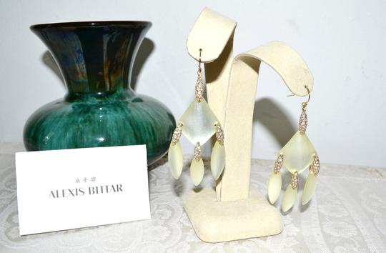 Alexis Bittar New ALEXIS BITTAR Ivory Lucite Chandelier Drop Earrings Crystal Image 2
