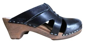 Maguba Swedish Black leather Mules