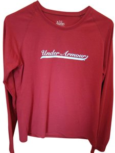 Under Armour Long Sleeve T T Shirt Burgundy