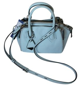 Rebecca Minkoff Sathel Leather Small Satchel in Blue