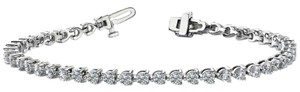 Avi and Co 6.00 cttw Round Brilliant Cut Three Prong Diamond Tennis Bracelet 14K White Gold