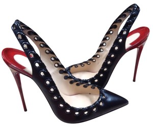 Christian Louboutin Ostri Sling Black Pumps