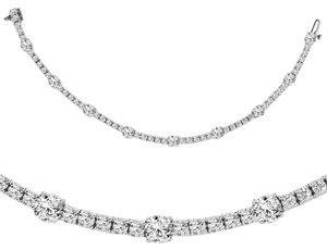 Avi and Co 6.32 cttw Round Brilliant Cut Diamond Tennis Bracelet 14K White Gold