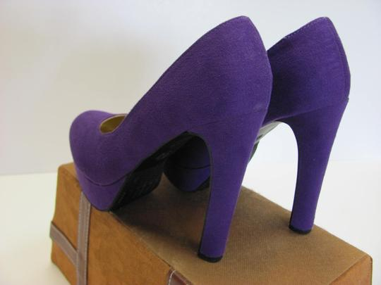 Mossimo Supply Co. New Size 7.50 M Excellent Condition Purple Platforms Image 2