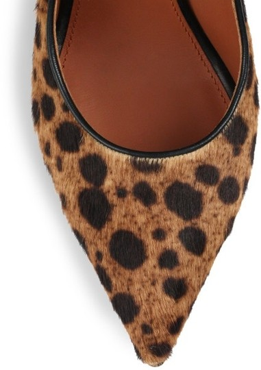 Givenchy Calf Hair Stiletto Animal Dior Ysl Chanel Alexander Wang Pointy Toe Leather Leopard print Pumps