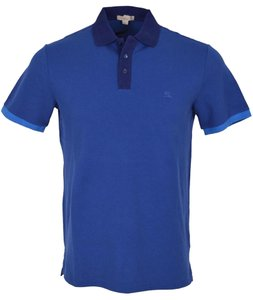 Burberry Men's Polo Men's Polo Polo T Shirt BLUE