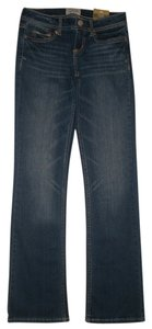 Aéropostale 5 Pocket Style Zip Fly Cotton/spandex Boot Cut Jeans-Dark Rinse