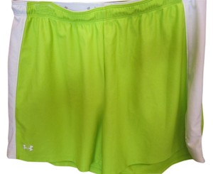 Under Armour Large Excercise Lime Bright White Logo Elastic Drawstring Shorts Green