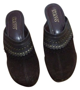Franco Sarto Suede Studded Brown Mules