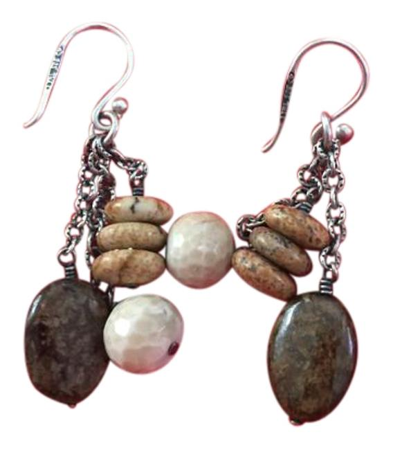 Item - Sterling Silver and Natural Stone Slipped Earrings