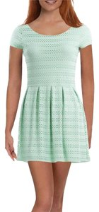 Eight Sixty short dress GREEN Mint Eyelet on Tradesy
