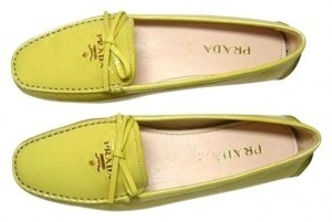 Prada Loafers Loafers Patent Leather Leather Loafers Patent Flash Summer Bright Yellow Flats