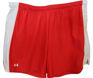 Under Armour Large Excercise Elastic Drawstring Logo Shorts Red