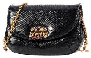 Judith Leiber Embellished Cabochon Stone Shoulder Bag