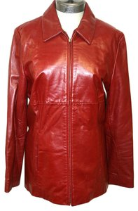 Kenneth Cole Leather Women's Jacket Size Large